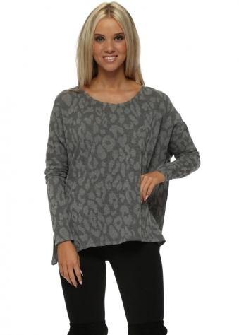 Sara Sexy Skin Slub Knit Top In Thunder