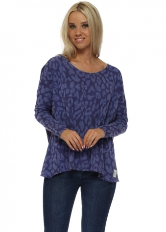 Sara Sexy Skin Slub Knit Top In Indigo