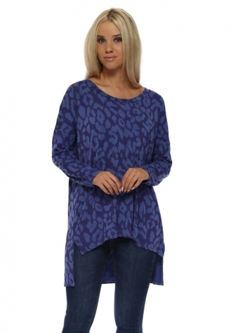 Sadie Sexy Skin Step Back Tunic Top In Indigo