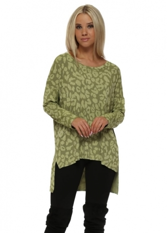 Sadie Sexy Skin Step Back Tunic Top In Golden Lime