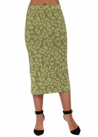 Shannon Golden Lime Sexy Skin Midi Skirt
