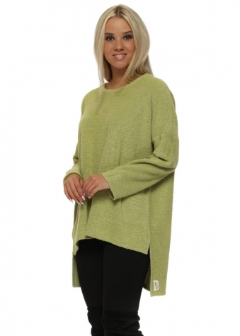 Chloe Coodle Step Back Tunic Top In Golden Lime
