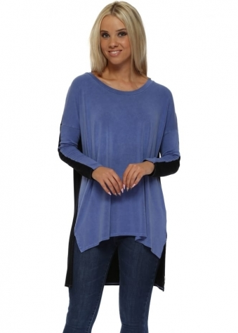 Toni Two Tone Indigo Tunic Top