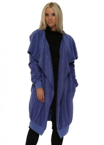 Courtney Poodle Wrap Coat In Indigo