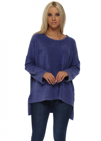 Chloe Coodle Step Back Tunic Top In Indigo