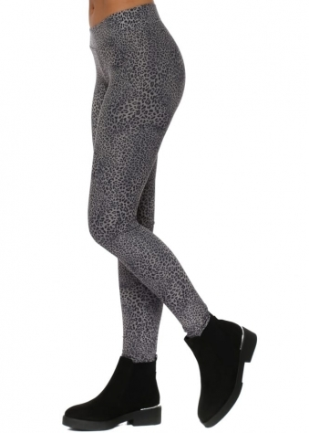 Little Leopard Print Mouse Grey Leggings