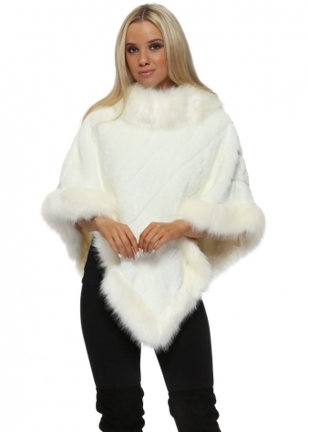 Luxury Cream Faux Fur Poncho