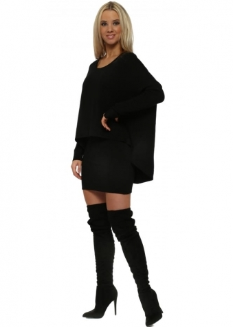 Black Two In One Tunic Jumper Dress