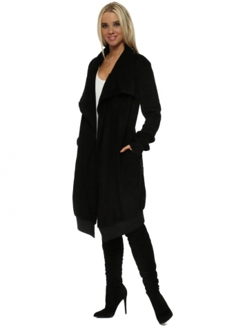 Courtney Poodle Wrap Coat In Black