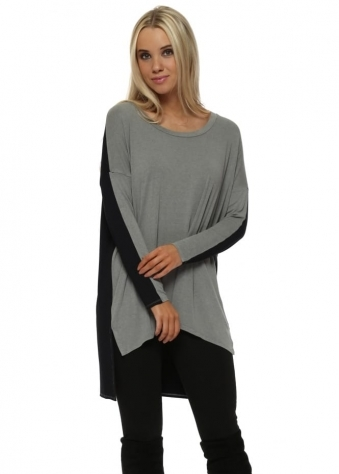 Toni Two Tone Thunder Melange Tunic Top