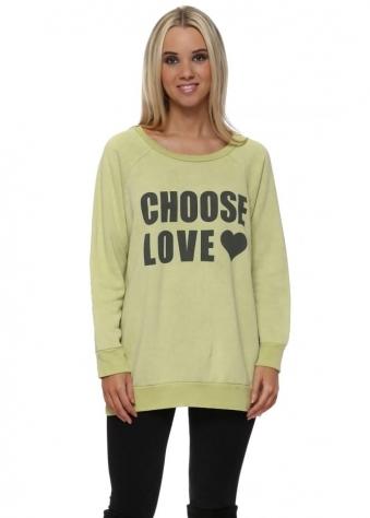 Golden Lime Choose Love Logo Sweater