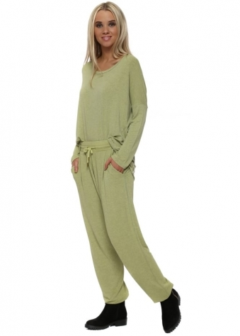Valerie Golden Lime Melange Hero Jogger Pants