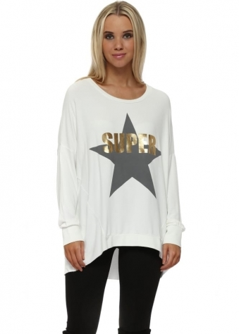 Vanilla Ice Gold Foil Super Star Logo Sweater