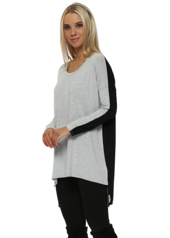 Toni Two Tone Vanilla Ice Melange Tunic Top