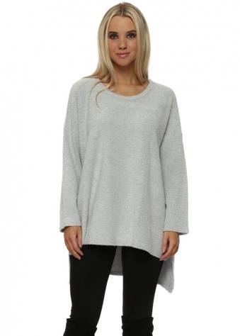 Chloe Coodle Step Back Tunic Top In Vanilla Ice Melange