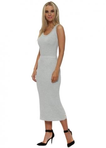 Mindy Vanilla Ice Melange Jersey Midi Skirt