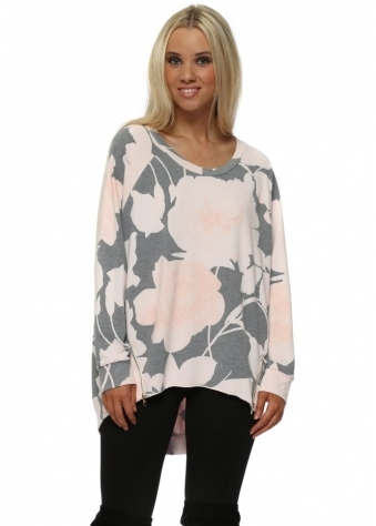 Brittany Blooming Lovely Zip Sweater In Milk Pink