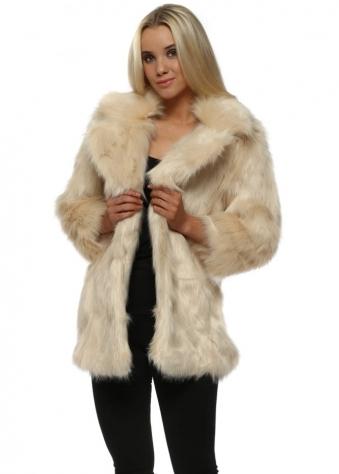 Cream Faux Fur Fluffy Coat