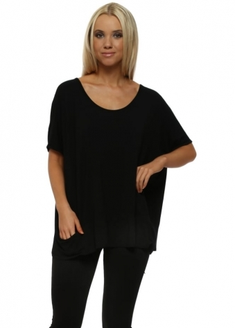 Sleeveless Pammy Slouch Jersey Top In Black