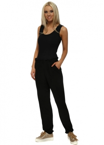 Laurel Slinky Black Loose Fit Relaxed Trousers