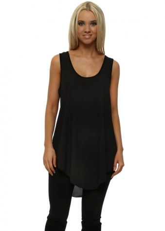 Lanie Black Swing Bell Vest Top
