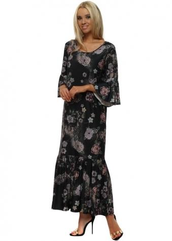 Sierra Sensual Sequin Boho Ruffle Dress