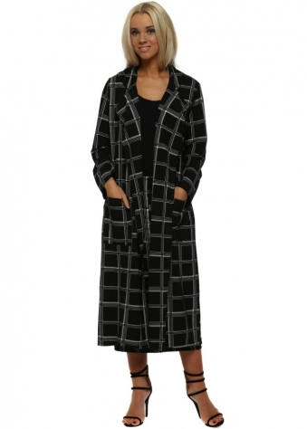 Charlie Black Checkie Print Deconstruct Jacket