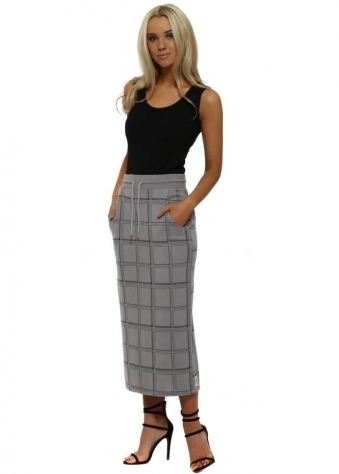 Chelsea Dim Grey Checkie Pencil Skirt