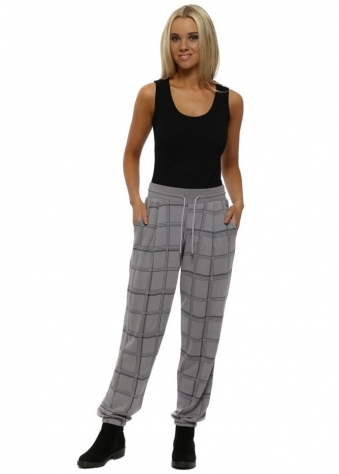 Courtney Dim Grey Checkie Relaxed Trousers