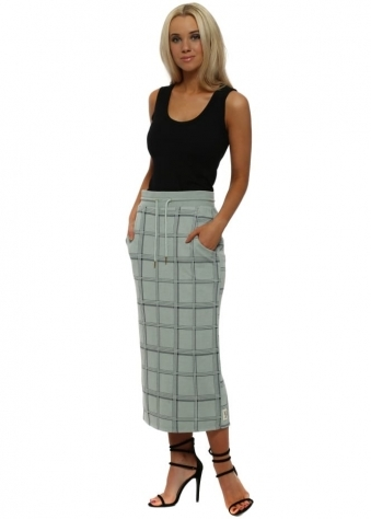 Chelsea Winter Sea Checkie Pencil Skirt
