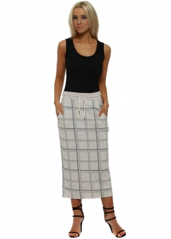Chelsea Milk Pink Checkie Pencil Skirt