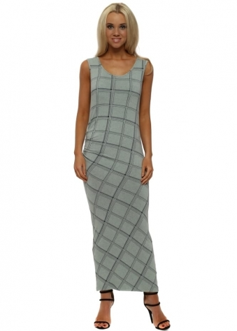Chloe Winter Sea Checkie Maxi Dress