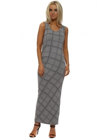 Chloe Dim Grey Checkie Maxi Dress