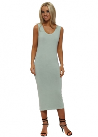 Nancy Winter Sea Jersey Midi Dress