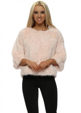 Luxury Pink Faux Fur Short Jumper