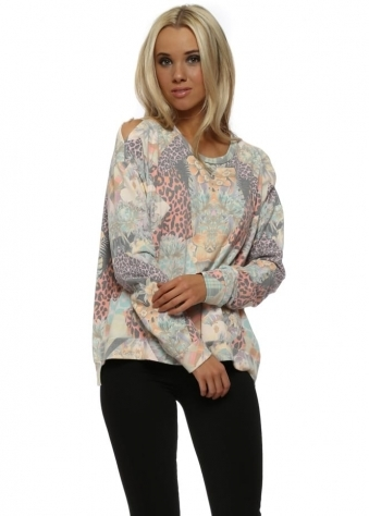 Patsy Patcha Milk Pink Slit Shoulder Sweater