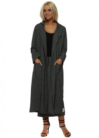 Harper Black Herringbone Deconstruct Coat
