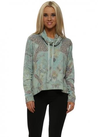 Penelope Patcha Winter Sea Funnel Neck Sweater