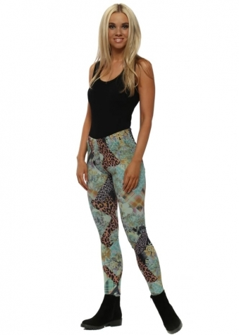Paige Winter Sea Patcha Leggings