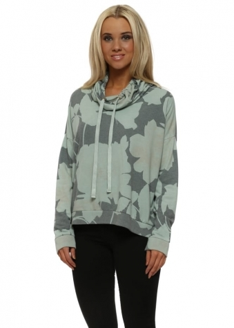 Bailey Blooming Lovely Winter Sea Funnel Neck Sweater