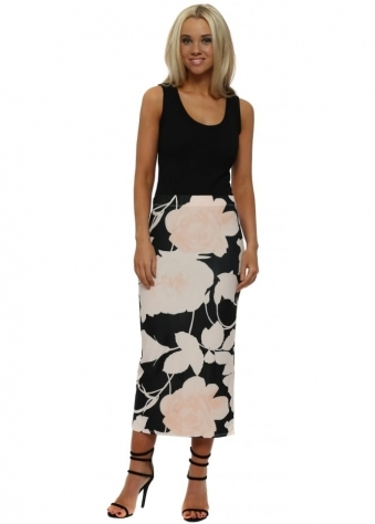 Bianca Milk Pink Blooming Lovely Pencil Skirt