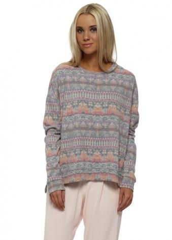 Faye Milk Pink Fab Fairisle Sweater