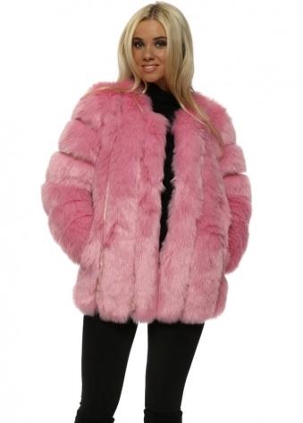 Renaissance Candy Pink Luxe Faux Fur Coat