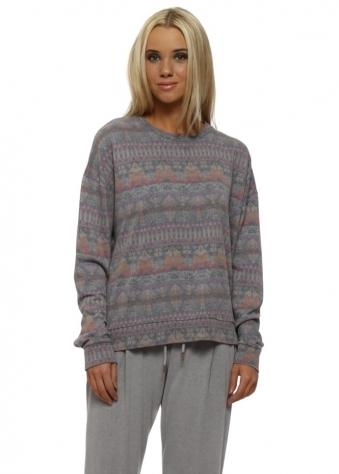 Faye Dim Grey Fab Fairisle Sweater