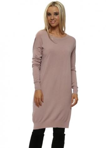 Pink Sparkly Open Back Jumper Dress