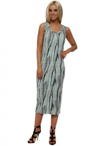 Venus Urban Stripe Pencil Dress In Silt