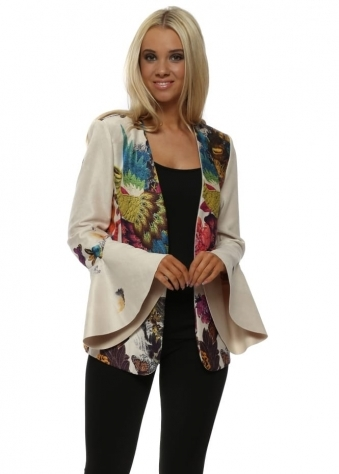 Faux Suede Birds Of Paradise Kate Jacket