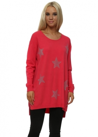 Strawberry Studded Stars Relaxed Jumper