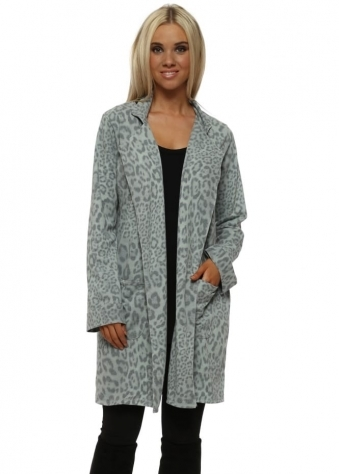 Brooke Silt Leopard Print Deconstruct Jacket