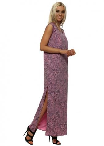 Lottie Little Leopard Self Tie Maxi Dress In Passion
